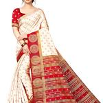 ANNI DESIGNER Women's silk with blouse piece Saree