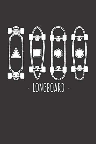 Notebook for sk8er sk8 longboard skate longboard: Dot Dotted Grid Funny Notebook Diary Journal...