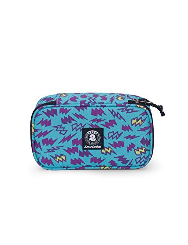 Portapenne INVICTA - QUICK CASE - Azzurro Viola - Astuccio porta penne attrezzato
