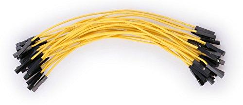 valonic Jumperkabel,, hochwertig, ca. 15 cm, Female nach Female, 25 Stück, für z.B. Raspberry Pi, Arduino, jumper wire, Breadboard Kabel, dupont, weiblich weiblich, RoHS, 1p