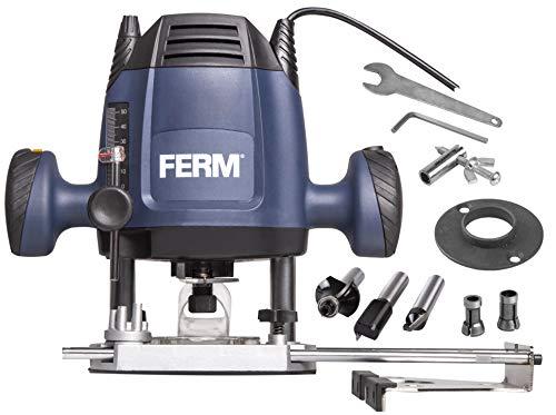 FERM Fresatrice verticale 6,8 mm - 1200W - Velocità variabile - Cavo di alimentazione da 3 metri...