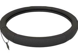 Couvre Volant Cuir Noir | Universel 37-39 cm | Accessoires Auto | Decoration Voiture Interieur | Prix