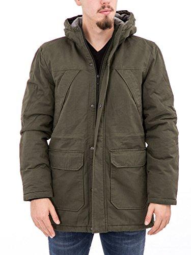 ONLY & SONS - Giubbotto parka uomo con cappuccio ovant long jacket m verde scuro