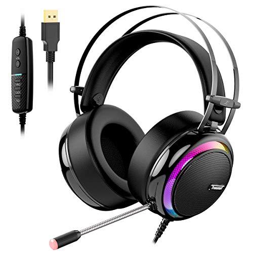 Tronsmart Auriculares Gaming para PS4 con Micrófono Diadema...