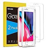 SPARIN [2 Pezzi Vetro Temperato Compatibile con iPhone 8 Plus / 7 Plus, [Strumento per Una Facile Installazione] Pellicola Protettiva iPhone 8 Plus e 7 Plus [Durezza 9H] [Alta Trasparente]
