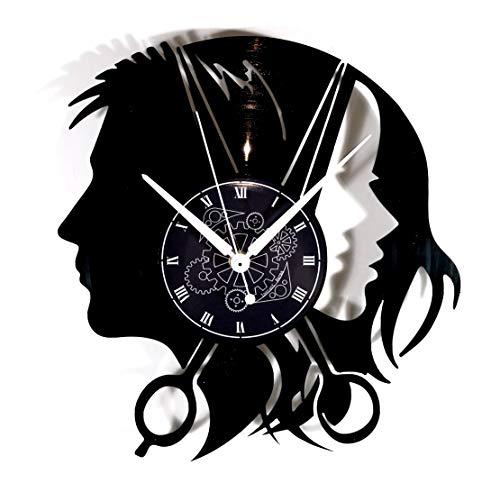 Instant Karma Clocks Orologio da Parete Disco in Vinile Parrucchiere Uomo Donna Barbiere Barber Shop, Vintage, Silenzioso