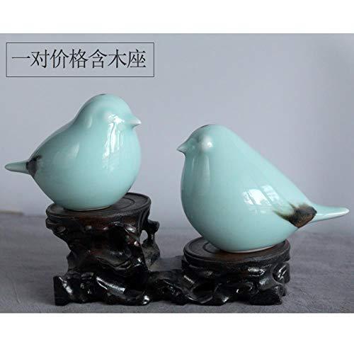 HXPBJ Scultura di Ornamenti Uccello in Ceramica Decorazione Semplice Nuovo Zen Cinese Soggiorno...