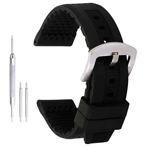18mm decenti bande di sostituzione di silicio in gomma nera per le smart Orologi da donna spalline in silicone vigilanza di sport