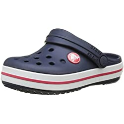 crocs Crocband Clog Kids, Unisex-Kinder Clogs, Blau (Navy/Red), 30-31 EU (C13 UK)