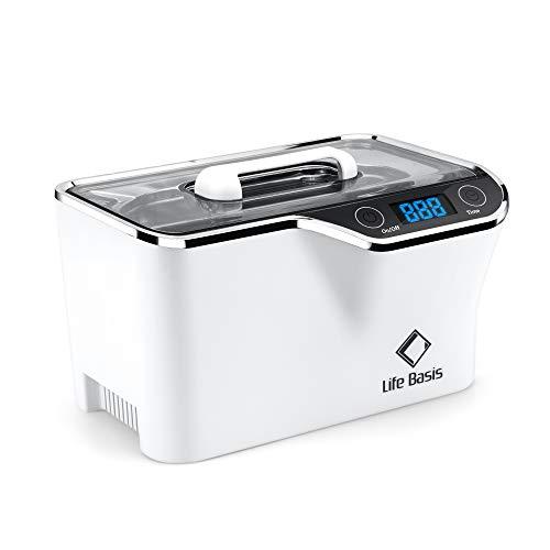 LifeBasis Ultraschallreiniger - Ultraschallreinigungsgerät 600ml Digitaler Ultraschallreiniger Ultraschallgerät 42KHz Ultraschall Gerät für Reinigung von Brille Schmuck Uhren MEHRWEG