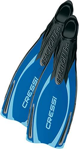 Cressi Reaction Pro Pinne da Snorkeling, Unisex - Adulto, Blu/Azzurro, 40/41