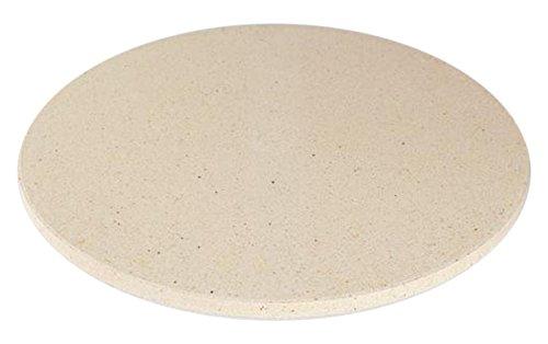 Dolcevita BBQ ADPIZ Piatto Pizza Refrattario per Barbecue Forni e Camini, Bianco, 31x31x1 cm