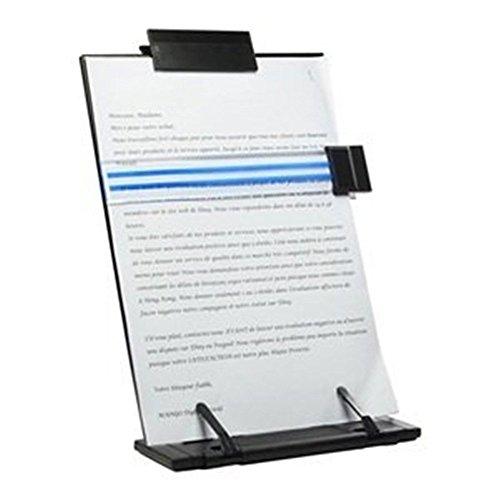 Lenhart schwarz Metall Desktop Dokument Book Halterung mit 7verstellbare Positionen