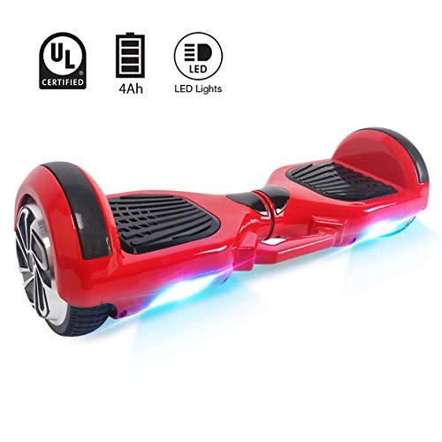 BEBK 6.5 Pollici Hover Board - Smart Self Balance Scooter Electrico con LED, Borsa Inclusa,...