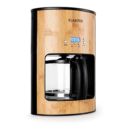 Klarstein Bamboo Garden macchina per il caffé caffettiera americana (1080W, serbatoio 1,25 litri,...
