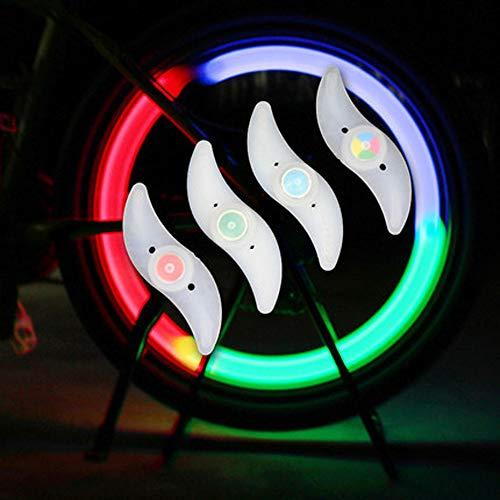 4 PCS Double Sided Bright Ruote per Bicicletta Ruote per Bicicletta Accessori Ruote LED Luci...