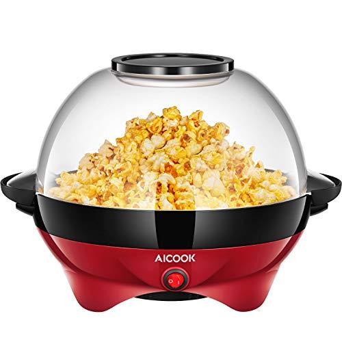 Aicook Popcornmaschine, Popcorn Maker mit Abnehmbares Heizfläche Antihaftbeschichtet,...