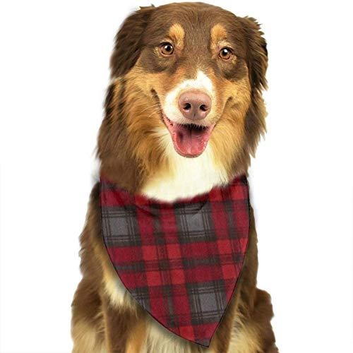 deyhfef Black Red Buffalo Plaid Pet Dog Bandanas Triangle Bib Scarf Accessories for Dogs, Cats, Pets Animals