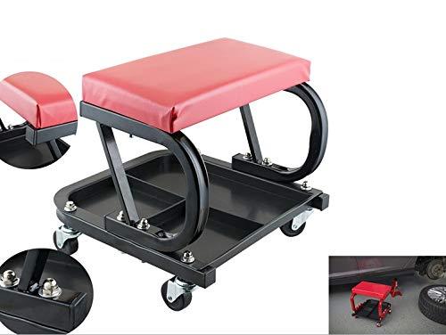 Breewell Car Repair Adjustable Creeper Seat Use for Stool Chair Repair Tools Tray Shop Auto Car Garage Workshop