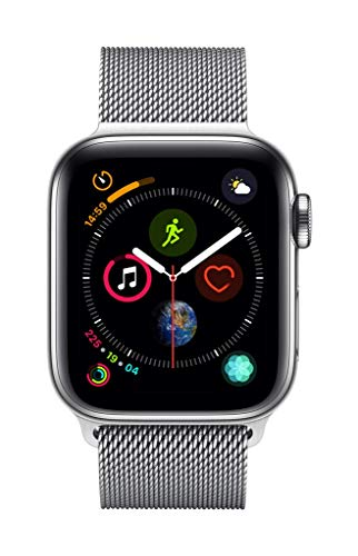AppleWatch Series4 (GPS + Cellular) Boîtier en AcierInoxydable de 40mm avec BraceletMilanais 23