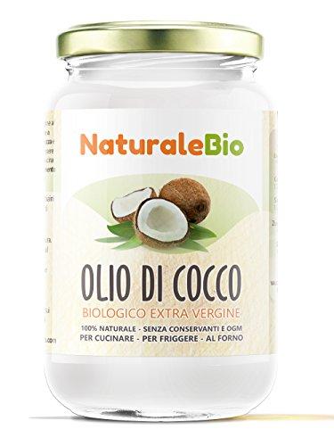 Huile de Coco Extra Vierge 500 ml - Crue et Pressée à Froid - Pure et 100% Bio - Idéale Pour Les Cheveux, Le Corps et Comme Aliment - Huile Bio Native Non Raffinée (NaturaleBio)