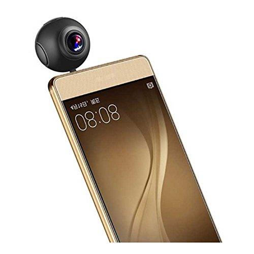 ELECTSHONG 720 gradi 2048 x 1024 telecamera HD Dual Lens panorama fisheye panoramica sostegno VR Mode 360 Action Camera per telefoni Android