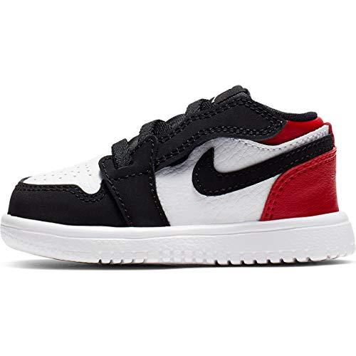 Nike Jordan 1 Low Alt (TD), Scarpe da Ginnastica Basse Bimbo, Multicolore (White/Black/Gym Red 116), 22 EU