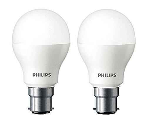 Philips Base B22 7-Watt LED bulb (Cool Day Light,Pack of 2)