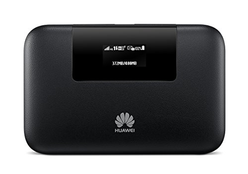 Huawei E5770s-320 150 Mbps 4G LTE Mobile WiFi Hotspot (4G LTE in Europe, Asia, Middle East, Africa & 3G globally, 20 hour 5200 mAh battery) (Black)