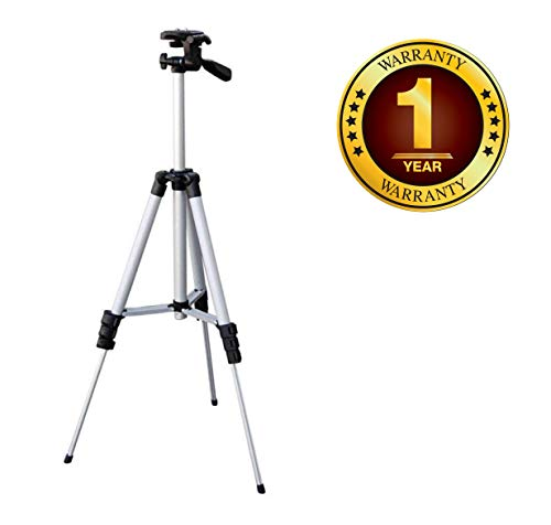 Azacus Portable & Foldable Mobile Camera Tripod with Mobile Clip Holder Bracket, Fully Flexible Mount Cum Tripod, Stand with Three-Dimensional Head & Quick Release Plate Compatible with All Mobiles