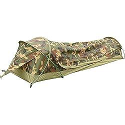 Bivvy Biwaksäcke Trekkingzelt Campingzelt Zelt Minipack Ultraleichtes Wasserdichtes - 230 x 75 x 60 H cm (1.25 kg) - Eine Personen Zelt für Outdoor-Camping Wandern – Schneller einfacher Aufbau (Camouflage)