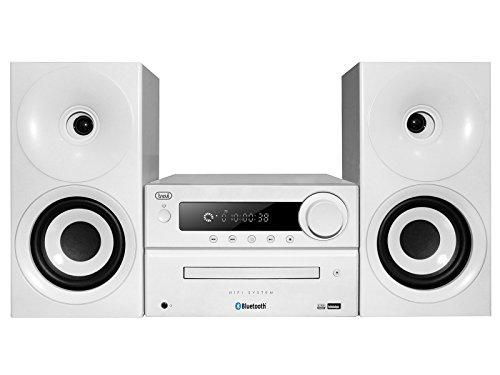 Trevi HCX 1080 BT Sistema Stereo HiFi con CD, Mp3, USB, Line-In, Bluetooth, Radio FM PLL e Presa...