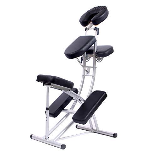 HSRG Poltrona da Massaggio ergonomica, Poltrona da Salotto Regolabile Pieghevole Portatile, per Salone da Massaggio con Massaggio in Salone