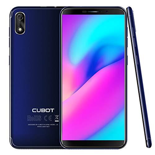 "CUBOT J3 (2018) 16GB Pantalla 18:9/5.0"" Android GO Reconocimiento Facial Dual Sim, Cámara Trasera 8MP / Frontal 5MP, Procesador Quad-Core MT6580, WiFi, Bluetooth,GPS, 2G 3G 2000 mAh Azul"