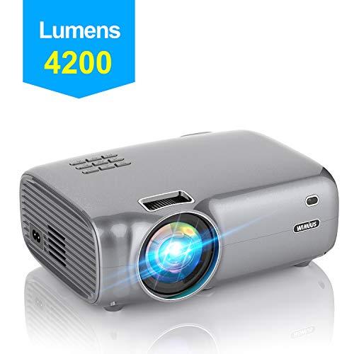 Videoproiettore,WiMiUS 4200 Lumen Mini Proiettore Portatile Nativa 1280*720P Suppoto 1080P Full HD...