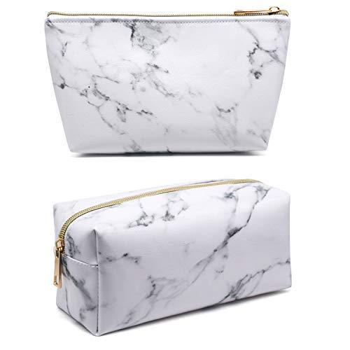 Whaline 2pezzi marmo trucco cosmetici borsa porta spazzolino da viaggio con custodia portatile da...