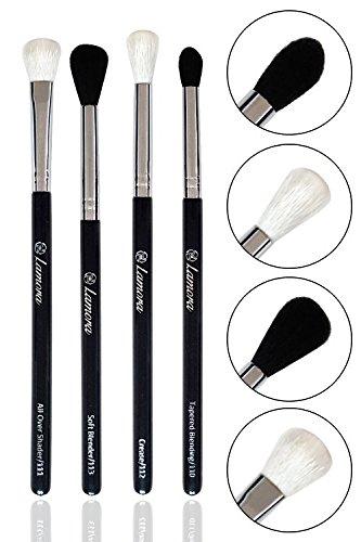 Bestes Augen Blender Pinsel Set - 4 Make Up Augenpinsel - Beauty Pinselset zum Verblenden von Lidschatten, Eyeshadow, Kosmetik Puder, Highlighter - Lidschattenpinsel Schminkpinsel Smokey Makeup Looks