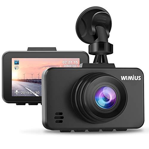 WiMiUS Dashcam Full HD 1080P Auto Kamera mit 170° Weitwinkelobjektiv, 2.45 Zoll LCD-Bildschirm Autokamera mit G-Sensor, WDR, Parkmonitor, Nachtsicht und Loop-Aufnahme