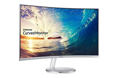 Samsung C27F591F 68,6 cm (27 Zoll) Monitor (HDMI, 4ms Reaktionszeit, 1920 x 1080 Pixel) silber/weiß
