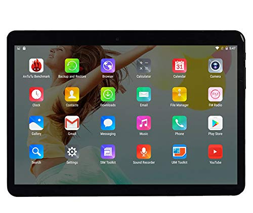 10 Zoll Octa Core CPU Android Tablet 4GB RAM 64GB interner Speicher WiFi Kamera GPS Dual SIM ohne Netzsperre 3G Tablet Metall Schwarz