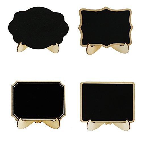 Lavagna Legno Lavagnette Promemoria Segnaposto Lavagna con Stand 20 pezzi