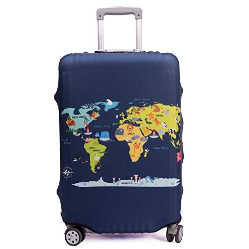 Maddy's Home Elastica Suitcase Cover Proteggi bagagli luggage Cover,Pop Gatto (Map, XL (Fit 29'-32'...
