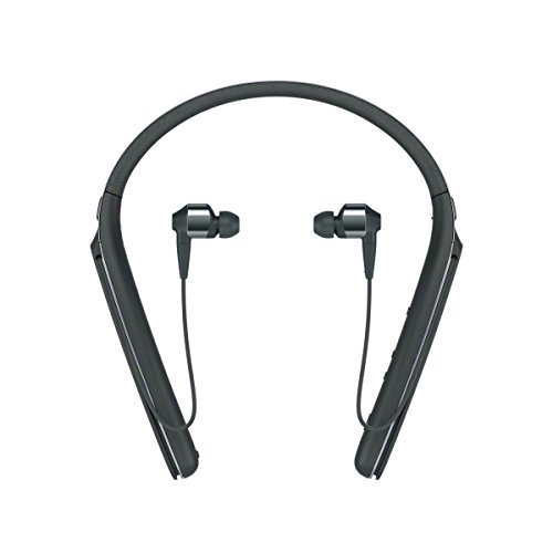 Sony WI1000X Cuffie In-Ear Stereo, Bluetooth, Digital Noise Cancelling con Microfono Integrato, Neck-Band, Colore Nero