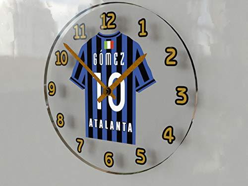 SERIE A-ITALIAN OROLOGI DA PARETE, MOTIVO FOOTBALL, QUALSIASI NOME, QUALSIASI NUMERO, QUALSIASI TEAM, PERSONALIZZAZIONE!