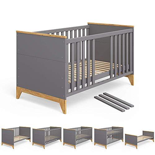 Babybett Malia Kinderbett Umbaubett Jugendbett Bett für Kinder Kleinkinder und Babys 140x70cm