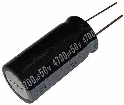 Condensatore elettrolitico , chimico , 4700µF ± 20% 50V THT 105°C 1000h radiale Ø 20 x 40 mm .SK2-C13016-B391