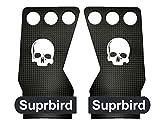 SUPRBIRD Carbon 3H Guanti Crossfit Paracalli per Palestra e Sollevamento Pesi per Trazioni alla Sbarra, Calisthenics, Ginnastica Artistica, Bodybuilding, per Uomini e Donne