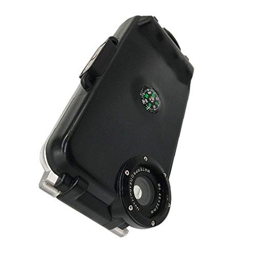 MagiDeal Wasserdicht Unterwassergehäuse 40m Schwimmen Tauchen Schutzhülle Gehäuse Kamera-Gehäuse Unterwasser Seashell Case geeignet iphone 6/iPhone 5/5s/5c / iPhone 6plus - Für Iphone 6 Schwarz, Für Iphone 6