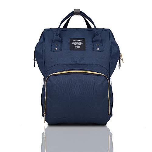 Robustrion Baby 20 x 18 x 40 cm Nylon Nursing Waterproof Multifunctional Diaper Backpack (Blue)