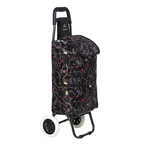 EverBest Foldable Shopping Trolley Bag (Chocolate Brown)